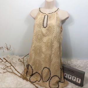 Theme dress sz small snap buttons around neckline